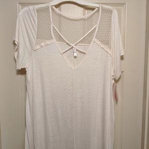 Xhilaration Short Sleeve Top NBW XL